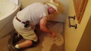 bathroom floor concrete resurfacing