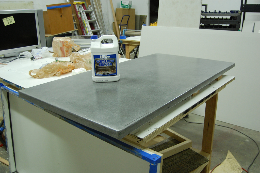 concrete countertop construction